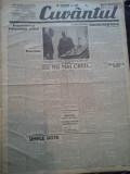 Ziare vechi - Cuvantul - Nr. 2850, 31 mar 1933, 8 pag, Perpessicius, Nae Ionescu, Nae Ionescu