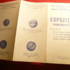 Program Expozitie Numismatica la CCA 1976, 4 pag