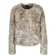 Jacheta din blana artificiala bej ONLY Winnie - haina de blana