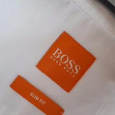 Camasa barbati HUGO BOSS orange nr.L originala stare de nou, Marime: L, Culoare: Alb, Maneca lunga