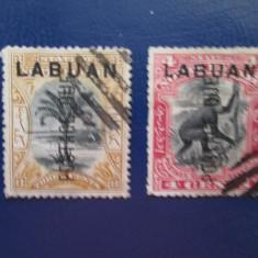 ANGLIA COLONII/LABUAN, Stampilat