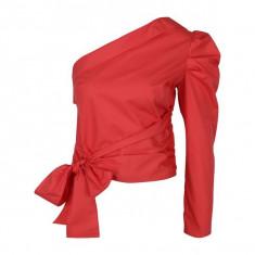 Bluza rosie cu decolteu pe un umar - Miss Selfridge