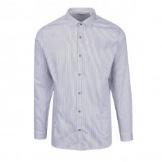 Camasa slim fit alb cu bleumarn in dungi Jack & Jones Premium Parma