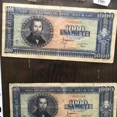 Bancnota romaneasca veche de colectie una mie lei 1950 20 septembrie