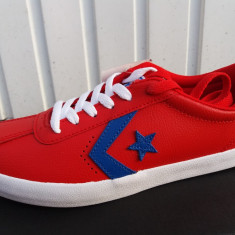 Converse Red - NR.37, 38, 39 - Piele - Adidasi dama Converse, Culoare: Rosu, Piele naturala