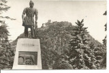 (A)carte postala(ilustrata)-HUNEDOARA-DEVA-Statuia lui Decebal, Circulata, Fotografie