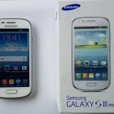 Telefon mobil Samsung S3 mini - folosit - Telefon mobil Samsung Galaxy S3 Mini, Alb, 8GB, Vodafone