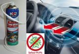 Spray Curatare Aer Conditionat Auto Dezinfectie Clima Spuma Activa cu Furtun