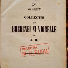 Heliade Radulescu, BREBENEI  SI  VIORELE, Bucuresti, 1860