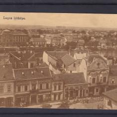 LUGOJ VEDERE GENERALA STRADA CU MAGAZINE ANIMATA - Carte Postala Banat 1904-1918, Necirculata, Printata