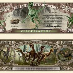 NOU : SUA = FANTASY NOTE (TJ6) = VELOCIRAPTOR - 2017 - UNC - bancnota america