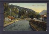 OLTENIA  VALCEA  BREZOI  VEDERE PE LOTRU IN SAT  CIRCULATA 1910, Printata