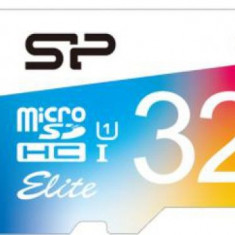 Card de memorie Silicon Power microSDHC, 32 GB, Elite/UHS, UHS-1 + Adaptor (Multicolor)