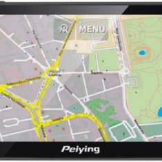 Sistem de navigatie Peiying PY-GPS5014, TFT LCD Capacitive touchscreen 5inch, Procesor 800MHz, 256MB RAM, 8GB Flash, Windows CE 6, Harta Europei