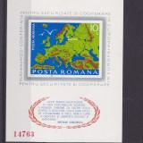 #2190 Romania 1975  colita nedantelata neuzata LP 892:  C.S.C.E. Helsinki, Organizatii internationale, Nestampilat