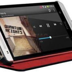 Husa Book cover HTC HC V851 Double Dip Flip pentru HTC One Mini (Negru/Rosu) - Husa Telefon