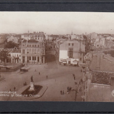 CONSTANTA   CENTRU SI  STATUIA OVIDIU  RESTAURANT  FOTO UNION EDITURA NIC.D.CUSI, Necirculata, Fotografie