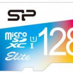 Card de memorie Silicon Power microSDHC, 128 GB, Elite/UHS, UHS-1 + Adaptor (Multicolor) - Card memorie foto