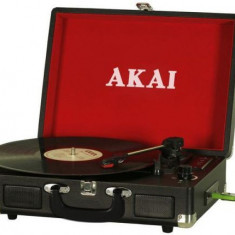 Pick-up Akai ATT-E10, USB/SD Player, difuzoare incorporate (Negru)