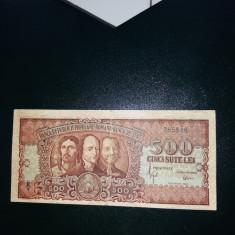 Bancnote romanesti 500lei 1949 vf - Bancnota romaneasca