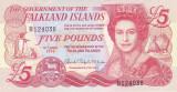 Bancnota Insulele Falkland 5 Pounds 2005 - P17 UNC