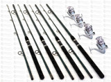 Set 4 Lansete Robinhan POWER 3m cu Mulinete EF5000 cu 6 rulmenti