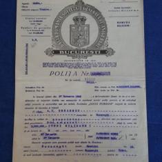 "Polita de asigurare Soc. "" Dacia - Romania "" - 1945"