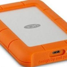HDD Extern LaCie Rugged, 2.5 inch, 2TB, USB 3.1, Rezistent la socuri (Portocaliu)