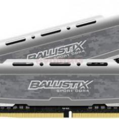Memorii Crucial Ballistix Sport LT DDR4, 2x4GB, 2400 MHz, CL16