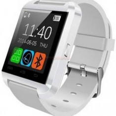 Smartwatch iUni U8+, Capacitive touchscreen, Bluetooth, Bratara silicon (Alb)