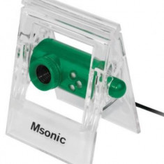 Camera Web Msonic MR1803E, VGA, Microfon (Verde) - Webcam