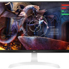 Monitor Gaming IPS LED LG 27inch 27UD69P-W, Ultra HD (3840 x 2160), HDMI, DisplayPort, Pivot, 5 ms (Alb)