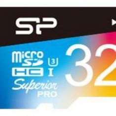 Card de memorie Silicon Power microSDHC, 32 GB, Superior UHS-1 U3, UHS-3 + Adaptor (Multicolor) - Card memorie foto