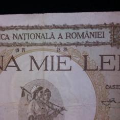Bancnote romanesti 1000lei supratipar 1939 vf - Bancnota romaneasca