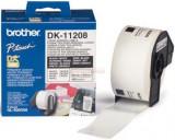 Etichete de hartie mari pentru adrese Brother DK11208, 38 mm x 90 mm (Negru/Alb)