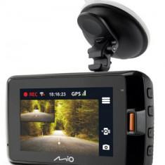 Camera Auto Mio MiVue 752 WiFi Dual, Quad HD (2560 x 1440), LCD 2.7inch (Negru)