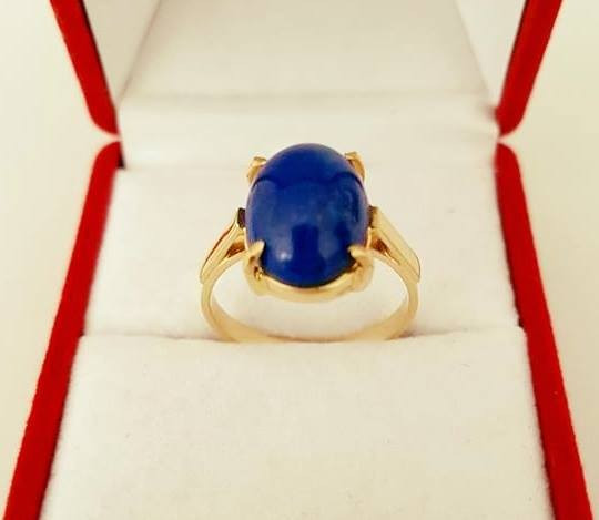 Inel din aur 14k cu Lapis Lazuli