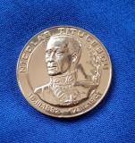 Medalie Nicolae Titulescu - stema municipiului Craiova - aurita