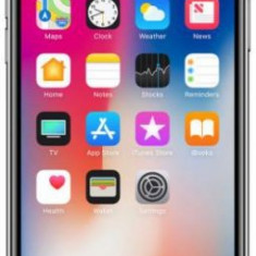 Telefon Mobil Apple iPhone X, iOS 11, OLED Multi-Touch display 5.8inch, 3GB RAM, 64GB Flash, Dual 12MP, Wi-Fi, 4G, iOS (Space Gray), Gri, Neblocat