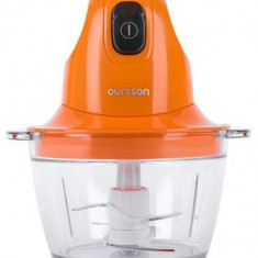 Tocator Oursson CH3010/OR, 300 W, 4 lame, Vas sticla, 0.8 l (Portocaliu) - Blender