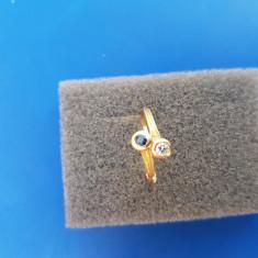 Inel deosebit aur 18k cu safir și diamant