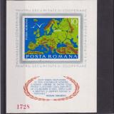 #2191 Romania 1975  colita nedantelata neuzata LP 892:  C.S.C.E. Helsinki, Organizatii internationale, Nestampilat
