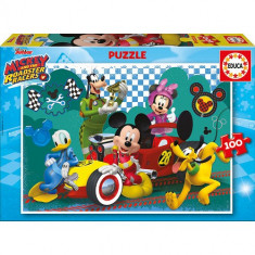 Puzzle Educa Mickey and the Roadster Racers 100 Piese