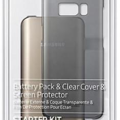 Kit Samsung EB-WG95ABBEGWW (protectie spate + folie protectie + acumulator extern + cablu Type-C) pentru Samsung Galaxy S8
