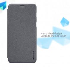 Husa Samsung Galaxy A5 2018 / A8 2018 Sparkle Leather by Nillkin Black - Husa Telefon Samsung, Negru, Cu clapeta, Toc