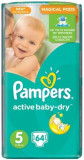 Scutece Pampers 5 Active Baby 11-18 kg (64)