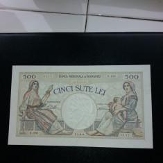 BANCNOTE ROMANESTI 500LEI 1930 AUNC PLUS FARA PLIURI - Bancnota romaneasca