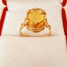 Inel din aur 14k cu citrin