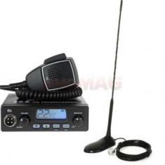 Kit statie radio CB TTi TCB-550 + antena PNI Extra 45 (Negru)