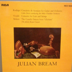 JULIAN BREAM plays RODRIGO/VIVALDI/BRITTEN ....(1964/RCA/RFG) - VINIL/Impecabil, rca records